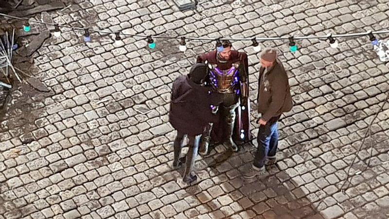 "Кадр со съемок фильма ""Человек-паук: Вдали от дома"""