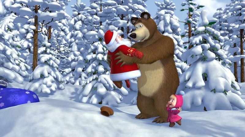 """Кадр из мультсериала """"Маша и медведь"""""""