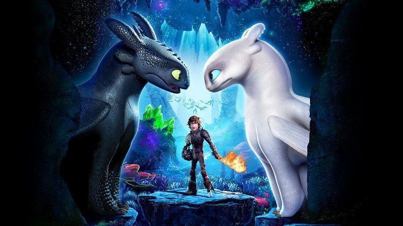 """Постер мультфильма """"Как приручить дракона 3"""""""