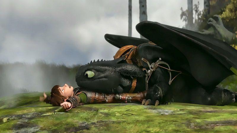 """Кадр из мультфильма """"Как приручить дракона"""""""