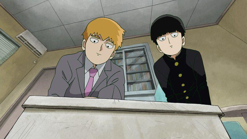 "Кадр из аниме ""Моб Психо 100"""