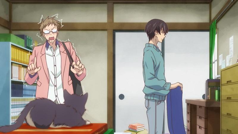 """Кадр из аниме """"Домашний питомец, иногда сидящий на моей голове"""""""