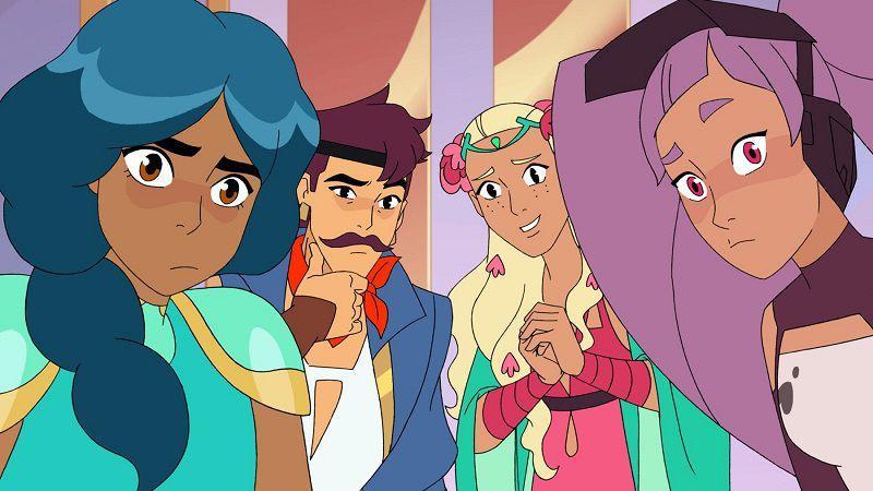 """Кадр из мультсериала """"Ши-Ра и Непобедимые принцессы"""""""