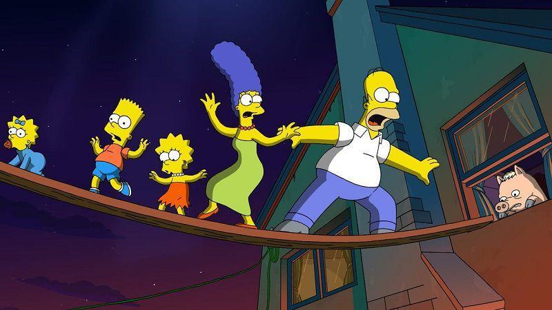 """Кадр из мультфильма """"Симпсоны в кино"""""""