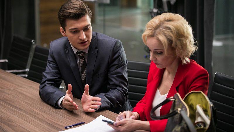 """Кадр из сериала """"Хорошая жена"""""""