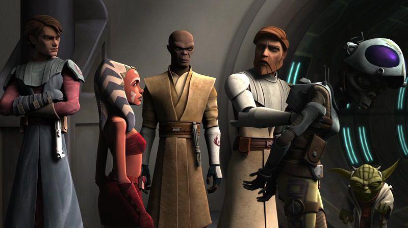 """Кадр из мультсериала """"Звездные войны: Войны клонов"""""""