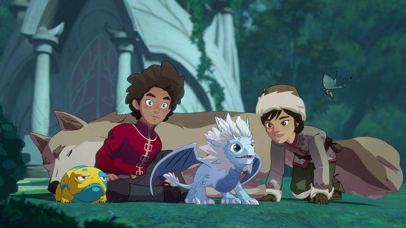 """Кадр из мультсериала """"Принц-дракон"""""""