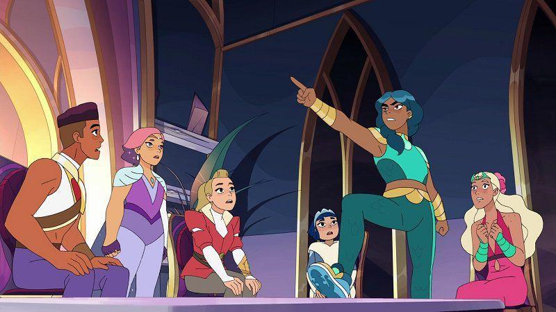 """Кадр из сериала """"Ши-Ра и Непобедимые принцессы"""""""