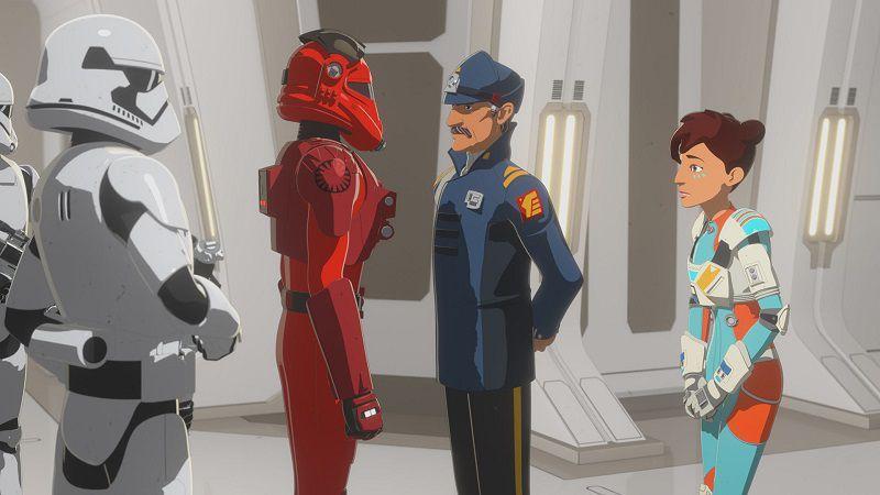 """Кадр из мультсериала """"Звездные войны: Сопротивление"""""""