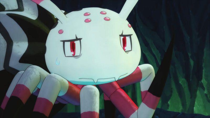 """Кадр из аниме """"Да, я паук, и что же?"""""""