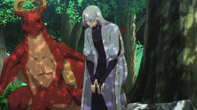 """Кадр из аниме """"Дракон в поисках дома!"""